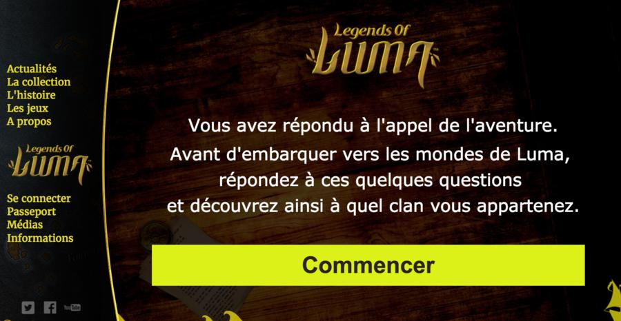 L'aventure Luma en ligne