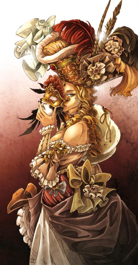 L'illustration de la couv de Mascarade