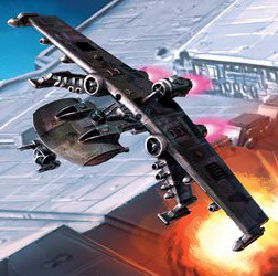 X-Wing : elle va cracher ma vieille frangine!