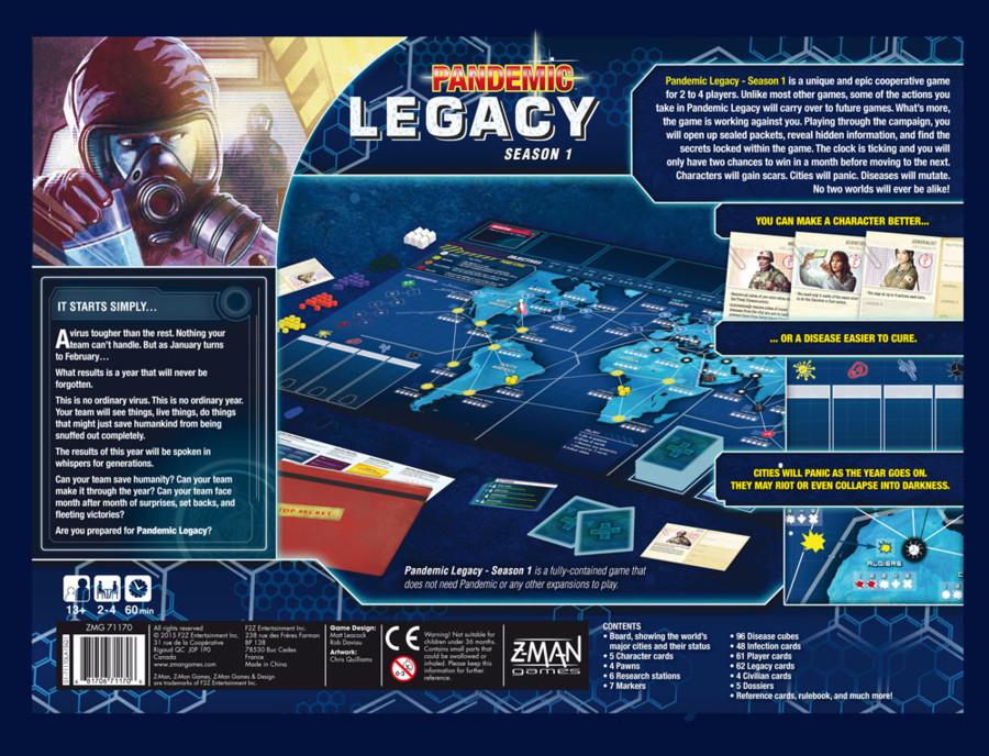Pandemic Legacy : Daviau et LEacock de dos !