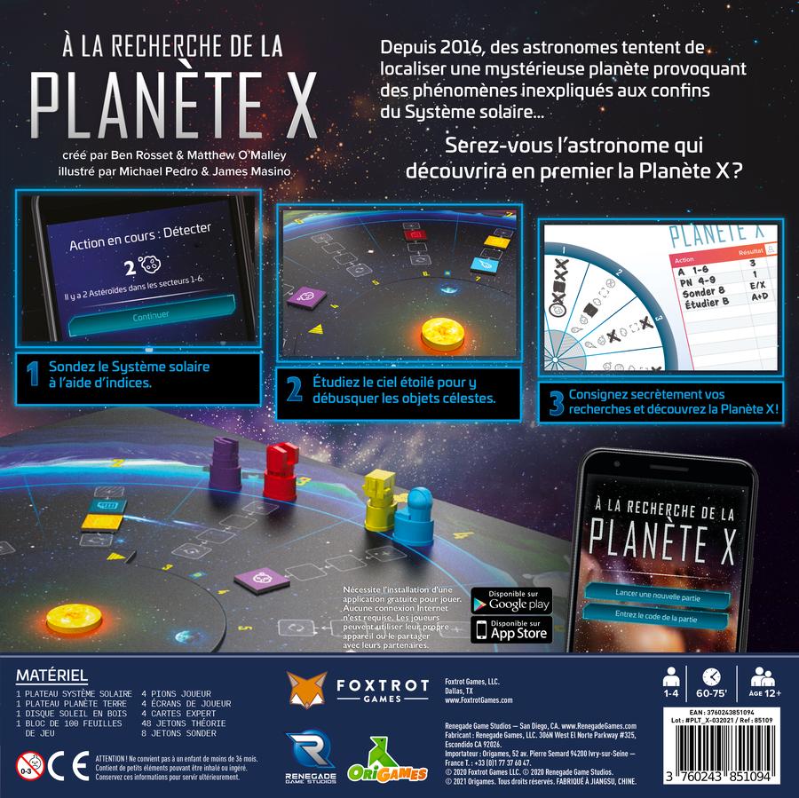 À la Recherche de la Planète X : un grand pas pour le jeu de déduction
