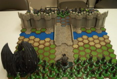 Lord Of The Ring le jeu de fig à collectionner.  Le Nazgul sur bête ailée