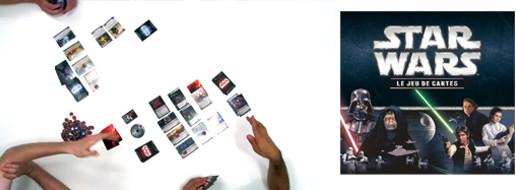 Star Wars le jeu de cartes, de la partie