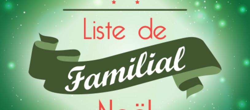 Liste de noël familial