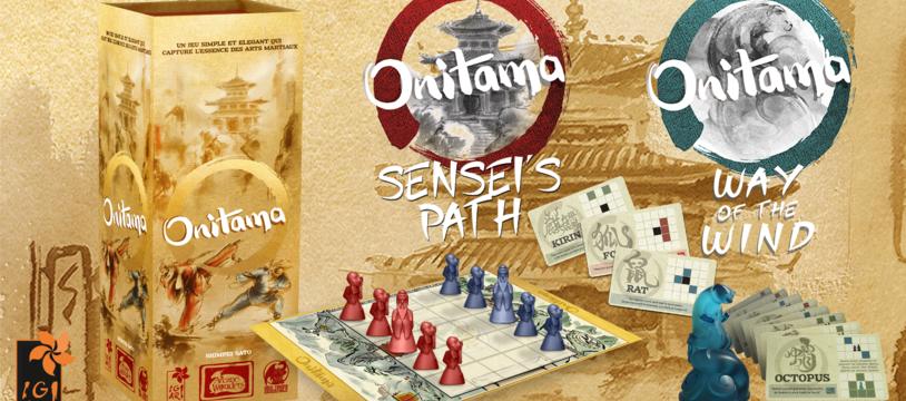 Contenu d'Onitama Sensei's Path et Way of the Wind