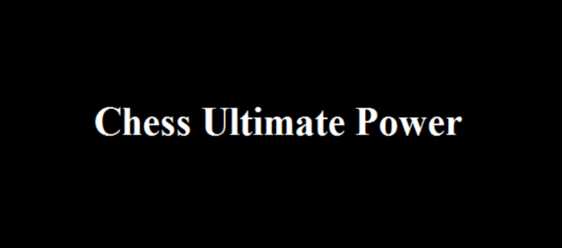 Le jeu gratuit du vendredi :  Chess Ultimate Power