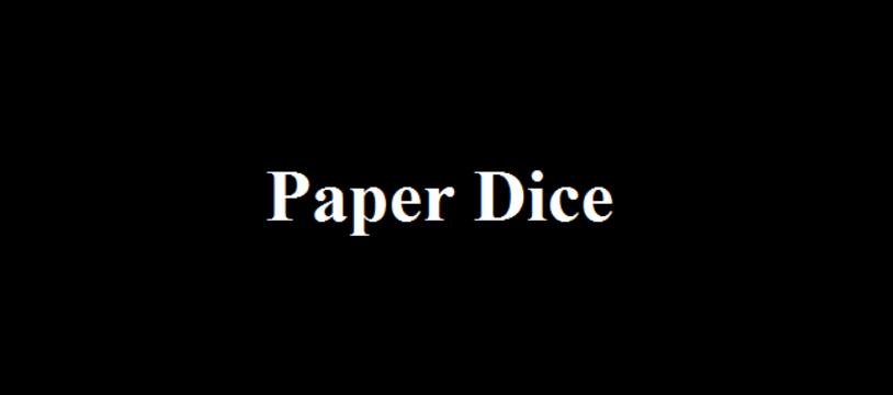 L'accessoire gratuit du vendredi :  Paper Dice
