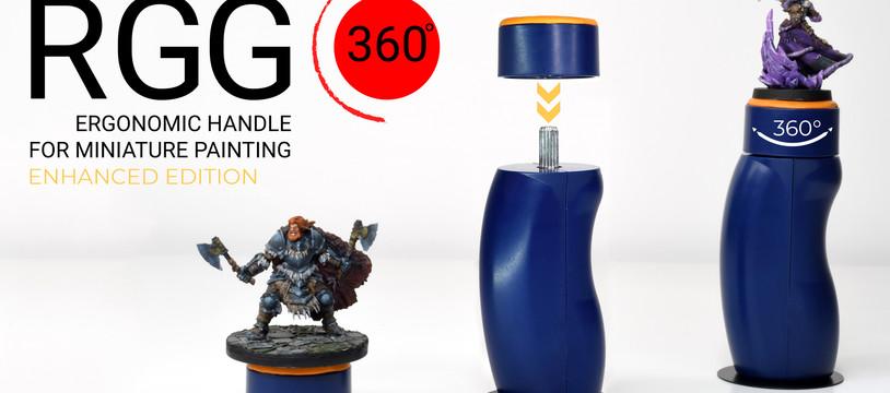 Kickstarter live: RGG360 poignée ergonomique pour peinture sur figurines