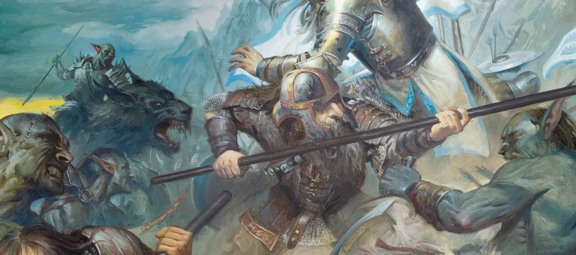 La Bataille des cinq Armées, Tolkien sur un plateau
