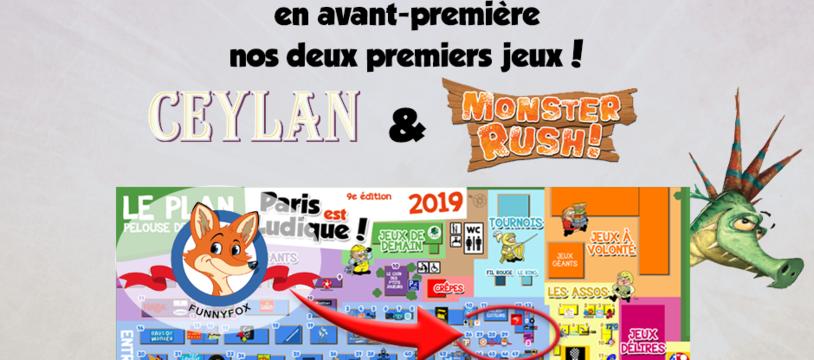 FUNNYFOX à Paris est Ludique pour présenter ses 2 premiers jeux !