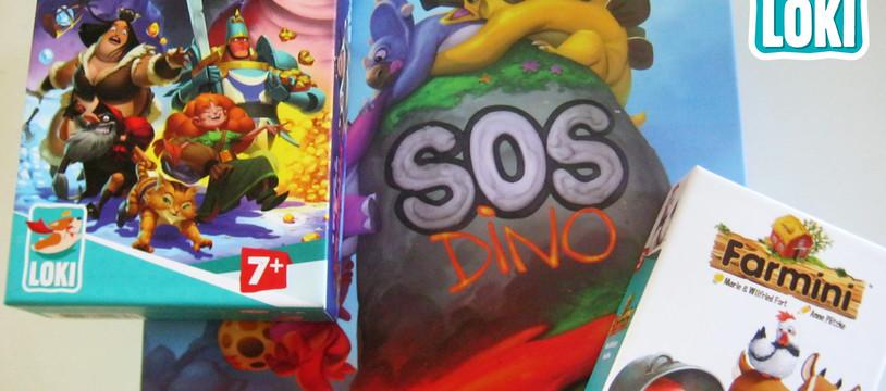 [3 Critiques] Nouvel éditeur Loki: Farmini, Troll & Dragon, et SOS Dino