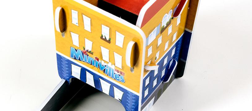 La tour à dés Minivilles dans la boutique à Goodies