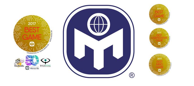 Mensa Be Games Awards, les jeux à Haut Potentiel 2017 sont...