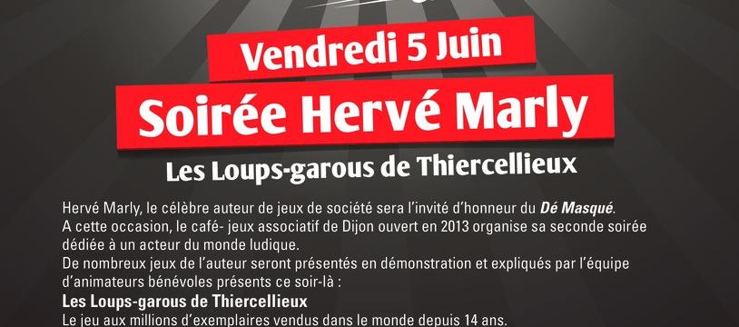 Hervé Marly le 5 juin au dé masqué!
