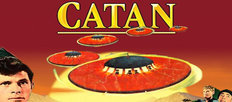 Les soucoupes attaquent Catane chez Asmodee Entertainment