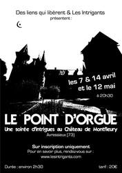 Le Point d'Orgue : Soirée Intrigues au Château de Montfleury