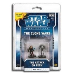 Star Wars Miniatures : The clone Wars : Map Pack : The  Attack on Teth