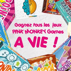 Gagnez tous les jeux Pink Monkey Games A VIE !