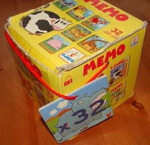 Mémo géant des animaux 32 pièces [cube jaune]