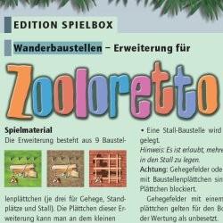 Zooloretto : chantiers de construction