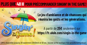 J-2 pour précommander Singin' in the Game à partir de 25€ !
