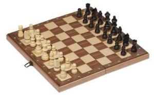 jeu d'échec en bois pliable