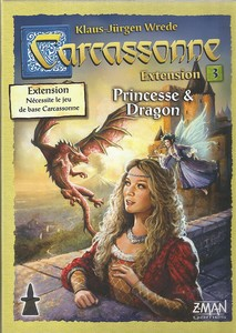 Carcassonne - extension 3  : Princesse et Dragon