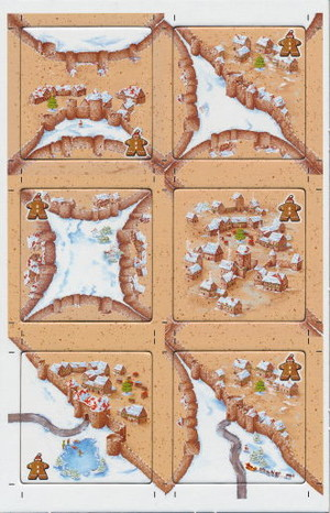 """Carcassonne """"Hiver"""" - Extension """"Le Bonhomme en Pain d'Épice"""""""