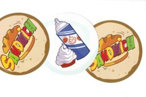 Sandwich carte promotionnelle : crème fraiche