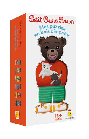 Petit Ours Brun - Mes puzles en bois aimantés