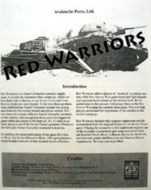 Panzer Grenadier : Red Warriors