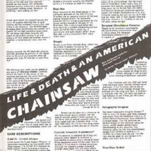 Life & Death & An American Chainsaw