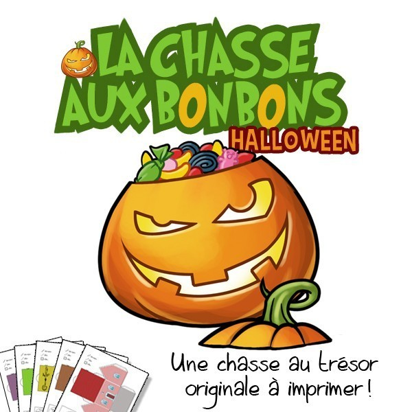Chasse aux bonbons Halloween